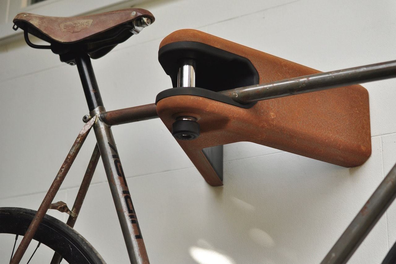 Rusty AIRLOK bike storage for vintage bike