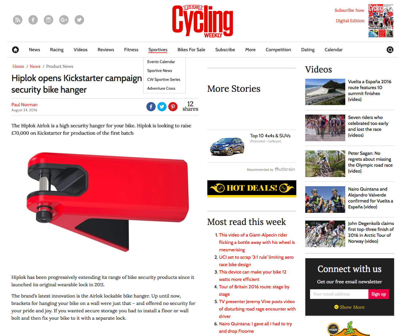 Cycling Weekly pOST