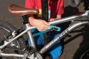 Child locking bike with z lok