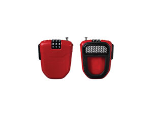 Red Hiplok FLX retractable combination cable lock