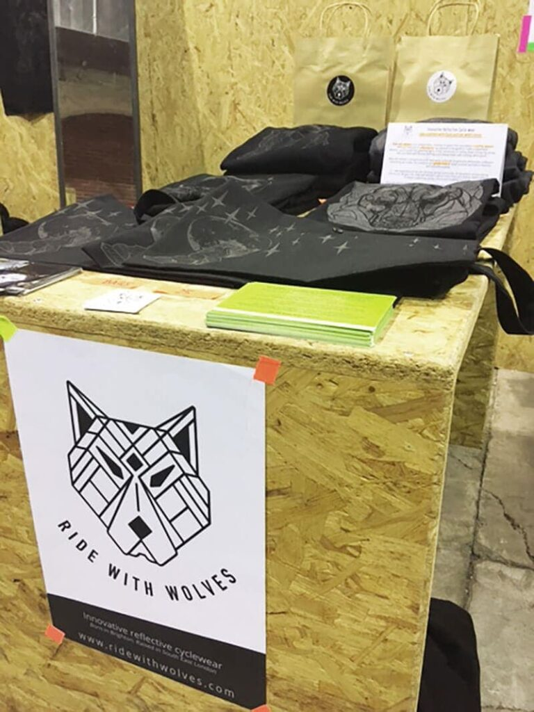 ride with wolves stand in Berliner Fahrradschau
