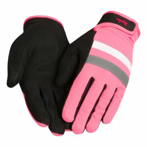 Rapha Brevet reflective cycling gloves pink colour